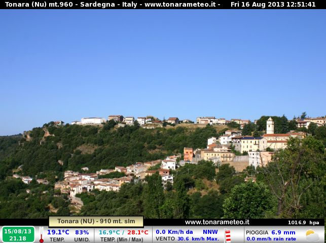 Webcam meteo Tonara